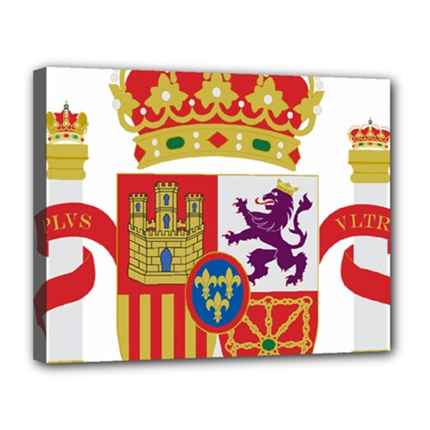 Coat Of Arms Of Spain Canvas 14  X 11  (stretched) by abbeyz71