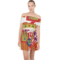 Coat Of Arms Of Spain Off Shoulder Chiffon Dress by abbeyz71
