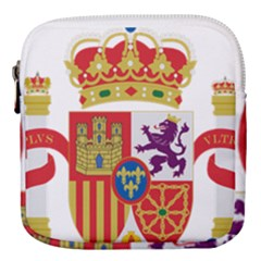 Coat Of Arms Of Spain Mini Square Pouch by abbeyz71