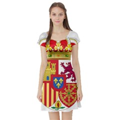 Coat Of Arms Of Spain Short Sleeve Skater Dress