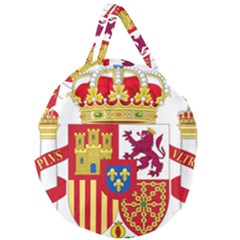 Coat Of Arms Of Spain Giant Round Zipper Tote