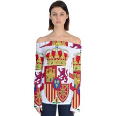 Coat Of Arms Of Spain Off Shoulder Long Sleeve Top