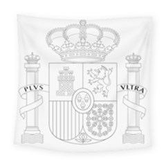 Coat Of Arms Of Spain Square Tapestry (large) by abbeyz71