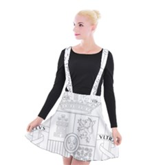 Coat Of Arms Of Spain Suspender Skater Skirt