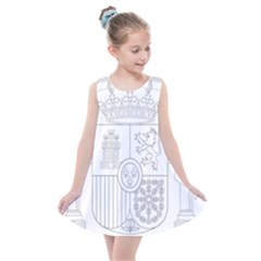 Coat Of Arms Of Spain Kids  Summer Dress