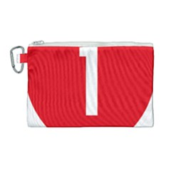 New Zealand State Highway 1 Canvas Cosmetic Bag (large) by abbeyz71