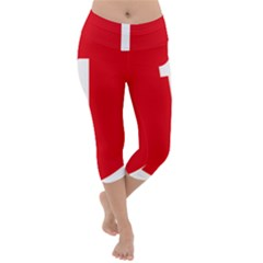 New Zealand State Highway 1 Lightweight Velour Capri Yoga Leggings