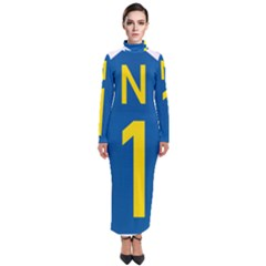 South Africa National Route N1 Marker Turtleneck Maxi Dress by abbeyz71