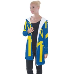 South Africa National Route N1 Marker Longline Hooded Cardigan