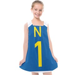 South Africa National Route N1 Marker Kids  Cross Back Dress by abbeyz71