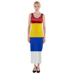 Druze Flag  Fitted Maxi Dress