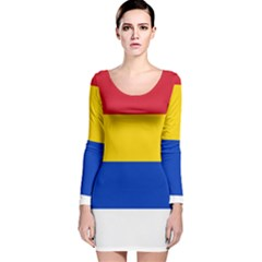Druze Flag  Long Sleeve Velvet Bodycon Dress by abbeyz71