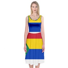 Druze Flag  Midi Sleeveless Dress