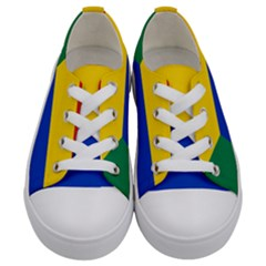 Druze Flag  Kids  Low Top Canvas Sneakers