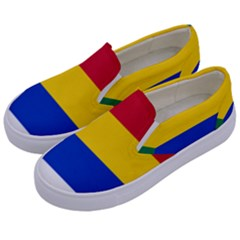Druze Flag  Kids  Canvas Slip Ons by abbeyz71
