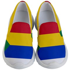 Druze Flag  Kid s Lightweight Slip Ons