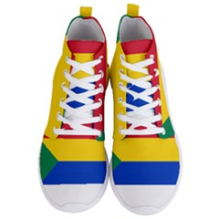 Druze Flag  Men s Lightweight High Top Sneakers by abbeyz71