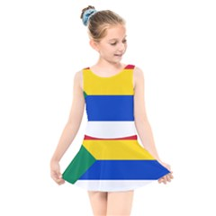 Druze Flag  Kids  Skater Dress Swimsuit by abbeyz71