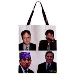 The Office Tv Show Zipper Classic Tote Bag by digitalartjunkie