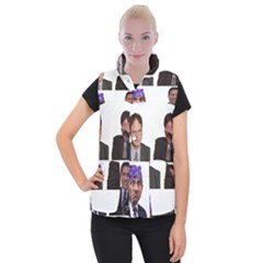 The Office Tv Show Women s Button Up Vest by digitalartjunkie