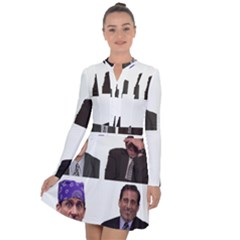 The Office Tv Show Long Sleeve Panel Dress by digitalartjunkie