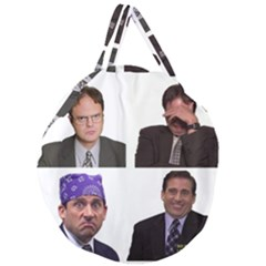 The Office Tv Show Giant Round Zipper Tote by digitalartjunkie
