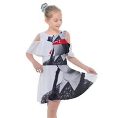 Friday, The Weekend Family Kids  Shoulder Cutout Chiffon Dress by digitalartjunkie