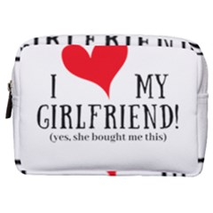 I Love My Girlfriend Make Up Pouch (medium) by digitalartjunkie