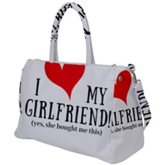 I Love My Girlfriend Duffel Travel Bag