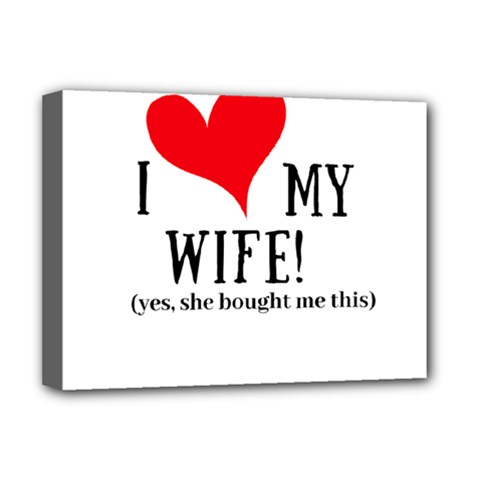 I Love My Wife Deluxe Canvas 16  X 12  (stretched)  by digitalartjunkie