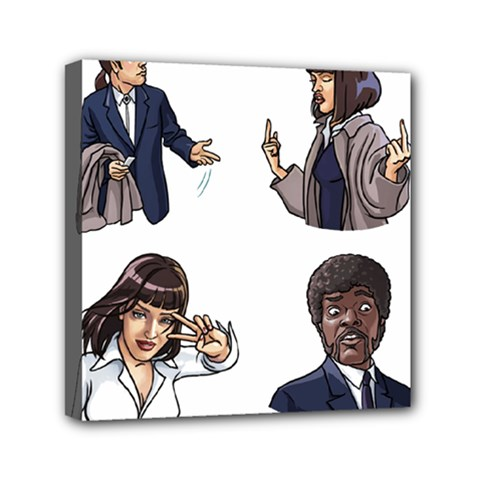 Pulp Fiction Mini Canvas 6  X 6  (stretched) by digitalartjunkie
