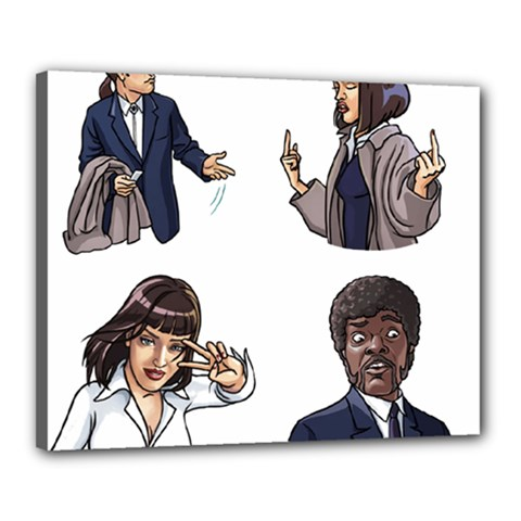 Pulp Fiction Canvas 20  X 16  (stretched) by digitalartjunkie