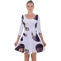 Pulp Fiction Quarter Sleeve Skater Dress by digitalartjunkie