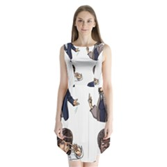 Pulp Fiction Sleeveless Chiffon Dress   by digitalartjunkie