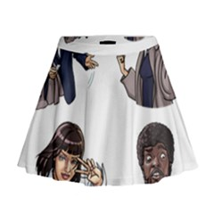 Pulp Fiction Mini Flare Skirt by digitalartjunkie