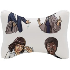Pulp Fiction Seat Head Rest Cushion by digitalartjunkie