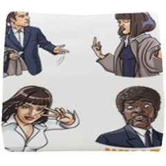 Pulp Fiction Seat Cushion by digitalartjunkie