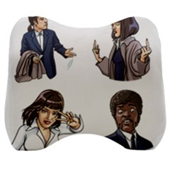 Pulp Fiction Velour Head Support Cushion by digitalartjunkie