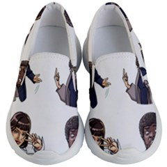 Pulp Fiction Kid s Lightweight Slip Ons by digitalartjunkie