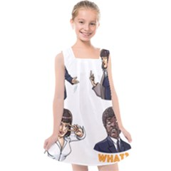 Pulp Fiction Kids  Cross Back Dress by digitalartjunkie