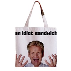 Gordon Ramsay Zipper Grocery Tote Bag by digitalartjunkie