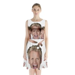 Gordon Ramsay Sleeveless Waist Tie Chiffon Dress by digitalartjunkie