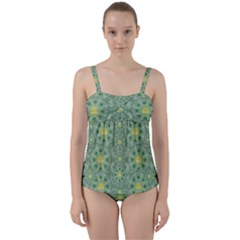 Summer Fantasy Apple Bloom In Seasonal Nature Twist Front Tankini Set