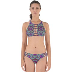 Water Garden Lotus Blossoms In Sacred Style Perfectly Cut Out Bikini Set by pepitasart
