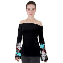 Exhale Bold Off Shoulder Long Sleeve Top by TrueAwesome