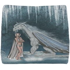 Wonderful Fairy With Ice Dragon Seat Cushion by FantasyWorld7