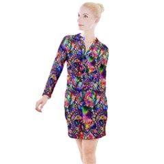 Unicorn Essence Button Long Sleeve Dress by KirstenStar