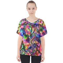 Unicorn Essence V Neck Dolman Drape Top