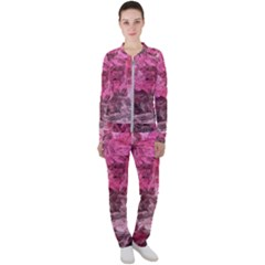 Pink Crystal Fractal Casual Jacket And Pants Set