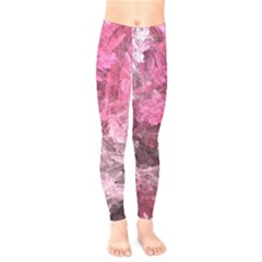 Pink Crystal Fractal Kids  Legging